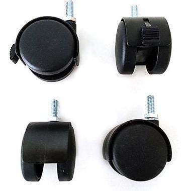 Grid Leg Casters, 4/Set, Black