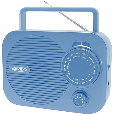 Jensen MR-550-BL Portable AM/FM Radio, Blue