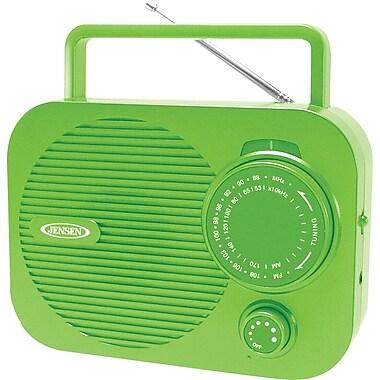 Jensen MR-550-G Portable AM/FM Radio, Green