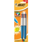 BIC® 4-Color™ Mini Retractable Ballpoint Pen, 2/Pack