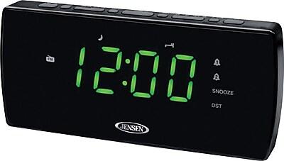 Jensen JCR-230 Dual Alarm Clock with Auto Time Set
