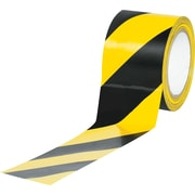 "Tape Logic™ 3"" x 36 yds. Striped Vinyl Safety Tape, Black/Yellow, 3/Pack"