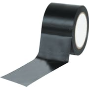 "Tape Logic™ 3"" x 36 yds. Solid Vinyl Safety Tape, Black, 3/Pack"