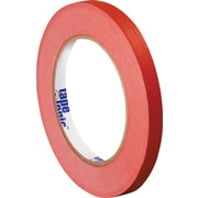 "Tape Logic™ 1/4"" x 60 yds. Masking Tape, Red, 12/Case"