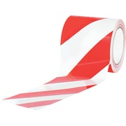 "Tape Logic™ 4"" x 36 yds. Striped Vinyl Safety Tape, Red/White, 12/Case"