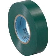 "Tape Logic™ 3/4""(W) x 20 yds(L) Vinyl Electrical Tape, Green, 10/Case"