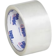 "Tape Logic® #600 Hot Melt Tape, 2"" x 55 yds., Clear, 6/Case"