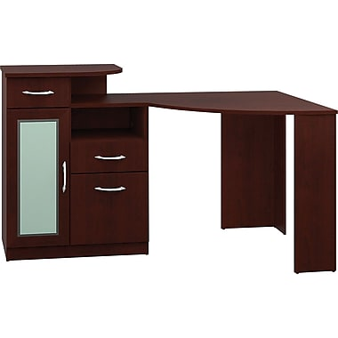Bush® - Bureau en coin de la collection Vantage, cerisier des vendanges