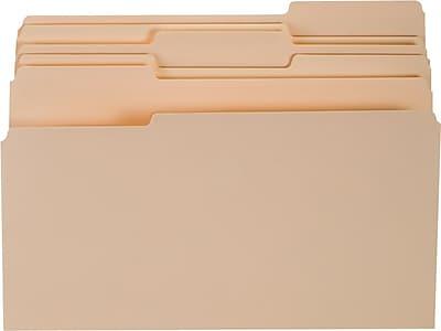 Staples® Top-Tab File Folders, 1/3 Cut, Manila, Legal-Size, 24/Pack