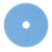 "3M™ Hi-Performance Burnish Pad, Blue, 20"", 5/Ct"