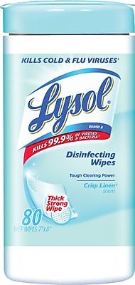 Lysol® Disinfecting Wipes, Crisp Linen, 80/Pack