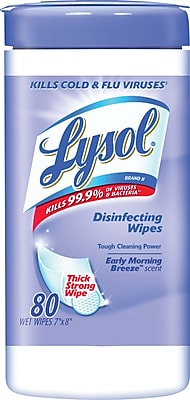Lysol® Disinfecting Wipes, Early Morning Breeze™, 80 Wipes/Canister (89347)