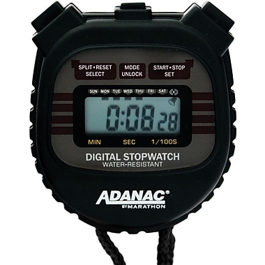 Marathon Water Resistant Digital Stopwatch with Large Display and Buttons, 10/Pack (ST083000-10PK)