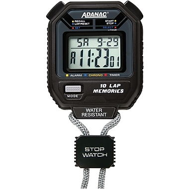 Marathon 10 Memory Digital Stopwatch, with Timer and Pacer (ST083006)
