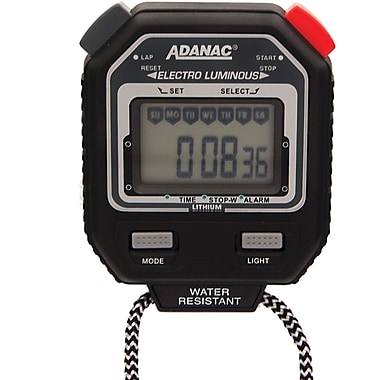 Chronomètre de marathon, Adanac, numérique, brille dans l'obscurité