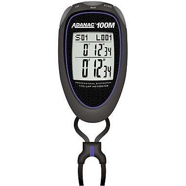Marathon Super 100 Memory, 6 Mode Digital Stopwatch, Blue (ST083010-B)