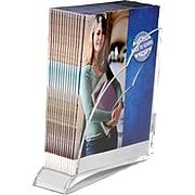 """Swingline Acrylic Magazine Rack,  Clear,  10 1/2""""H x 10 1/4""""W x 3 1/2""""D"""