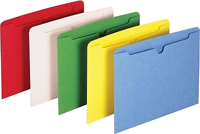 Staples Paper Stock File Jackets, Letter Size, Assorted Colors, 10/Pack (3010DT10 ASST)