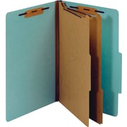 Staples® Classification Folder, 2 Dividers, Legal, Light Blue, 5/Pack