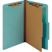 Staples Pressboard Classification Folders, Legal Size, 1 Divider, Light Blue, 5/Pack (PU544 LBL)