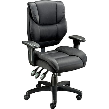 Staples® Multifunction Fabric Task Chair, Black