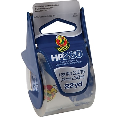Duck Brand HP260 3.1 mil Crystal Clear Premium Packing Tape 1.88X22.2 YD 6-Pack
