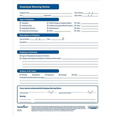 Complyright Employee Warning Notice Forms | Staples®