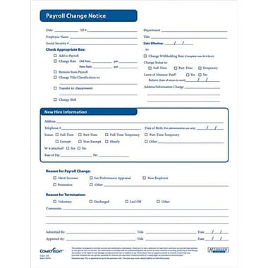 Complyright Payroll Change Notice Forms | Staples®