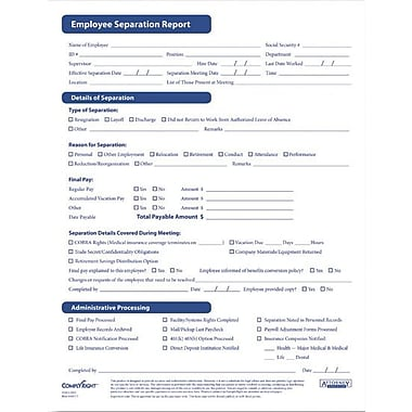 Complyright Employee Separation Forms  Staples