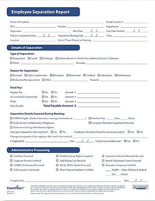 ComplyRight Employee Separation Forms (AR0373)