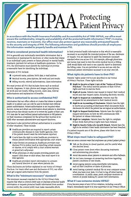 ComplyRight HIPAA Protecting Patient Privacy Poster