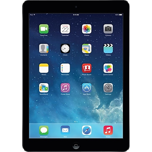 Apple iPad Air with Retina display with WiFi 16GB, Space Gray (Open Box)