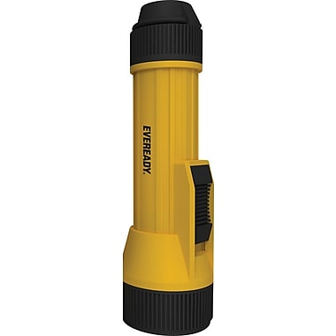 Eveready® 2 D LED Industrial Heavy Duty Economy Plastic Flashlight, Yellow