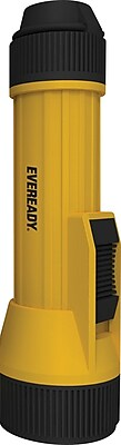 Eveready® LED Flashlights, 2D Industrial Heavy-Duty Plastic Flashlight, Yellow