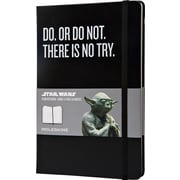 "Moleskine Star Wars Limited Edition Notebook, Large, Plain, Black, Hard Cover, 5"" x 8-1/4"""