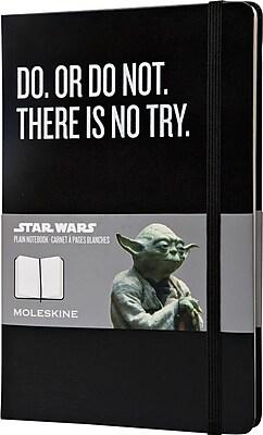 Moleskine Star Wars Limited Edition Notebook, Large, Plain, Black, Hard Cover, 5