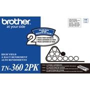 Brother – Cartouche de toner noire TN-360, haut rendement, paquet double
