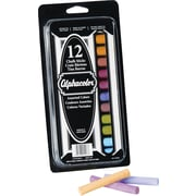 Alphacolor® Chalk Sticks, Assorted Colors, 8 Colors, 12/Pack