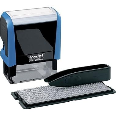 Trodat® - Trousse de bricolage pour fabrication de timbres auto-encreurs Printy 4911, sans incidence sur le climat, 3 lignes