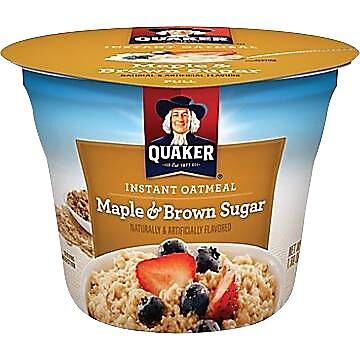 Quaker&reg Oatmeal Express Brown Sugar, 1.69 oz. Cups, 24 Cups/Case 570958