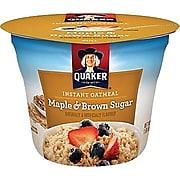 Quaker Oatmeal, Maple Brown Sugar, 1.69 Oz., 24/Carton (QUA31971)