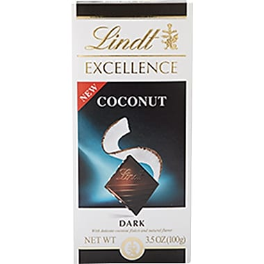 Lindt® Excellence Dark Chocolate Coconut Bar, 12/Pack
