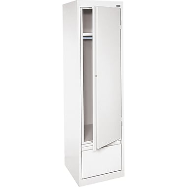 Sandusky® Wardrobe Storage Cabinets with File Drawer, White