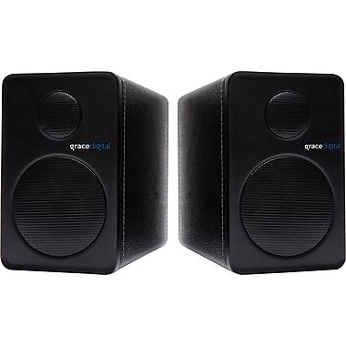 Grace Digital GDI-BTSP201 - aptX Powered Bookshelf Bluetooth Speakers, set of 2, Black