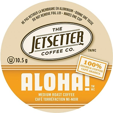 Jetsetter Coffee Co. – Café Aloha, portions individuelles, 18/paq.