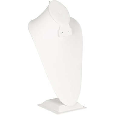 Bust Display Combo, White, 8-1/4