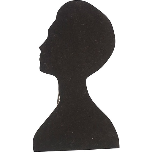 Necklace Head Display, Black, 9 x 16