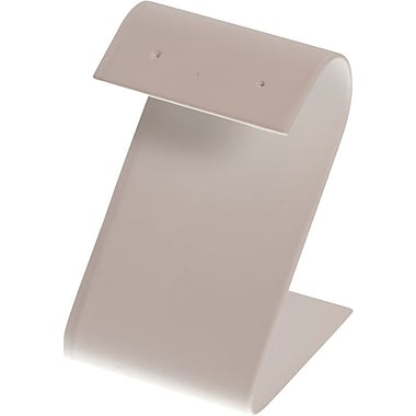 S Shaped Earring Stand, White, 3-1/4