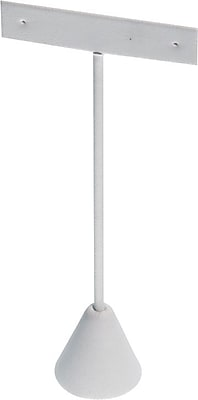 T Shaped Earring Stand, White, 5-3/4