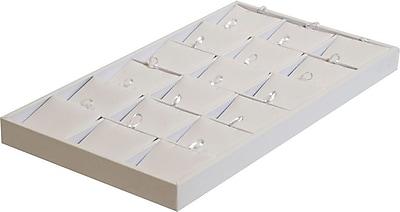 Pendant/Earring Pad, 18 Units, White, 14-3/4 x 8-3/4 x 1-1/8